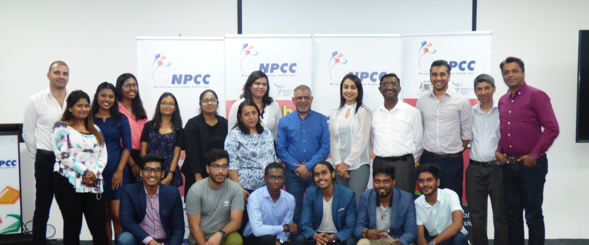 NLE winning teams handed cheques by NPCC Executive Director